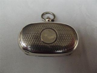 Hm Silver Double Gold Sovereign Holder - Case - Birm 1905 Joseph Gloster photo