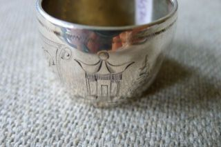 Antique Sterling Silver Asian Oriental Napkin Ring photo