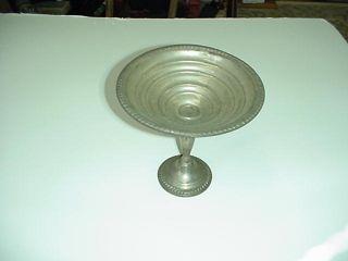 Antique Silver Compote Dish Empire Sterling 61 photo