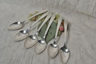 6 International Silver 1847 Rogers Bros Daffodil Place Oval Soup Spoon 1950 photo