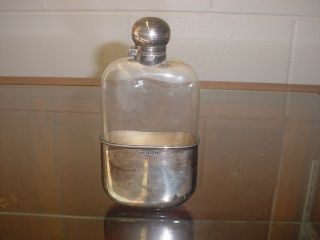 1890 James Dixon & Sons English Sterling Silver Pocket Flask L@@k Nr photo