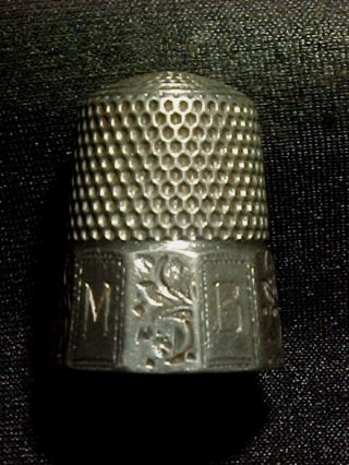 Antique Sterling Silver Thimble photo
