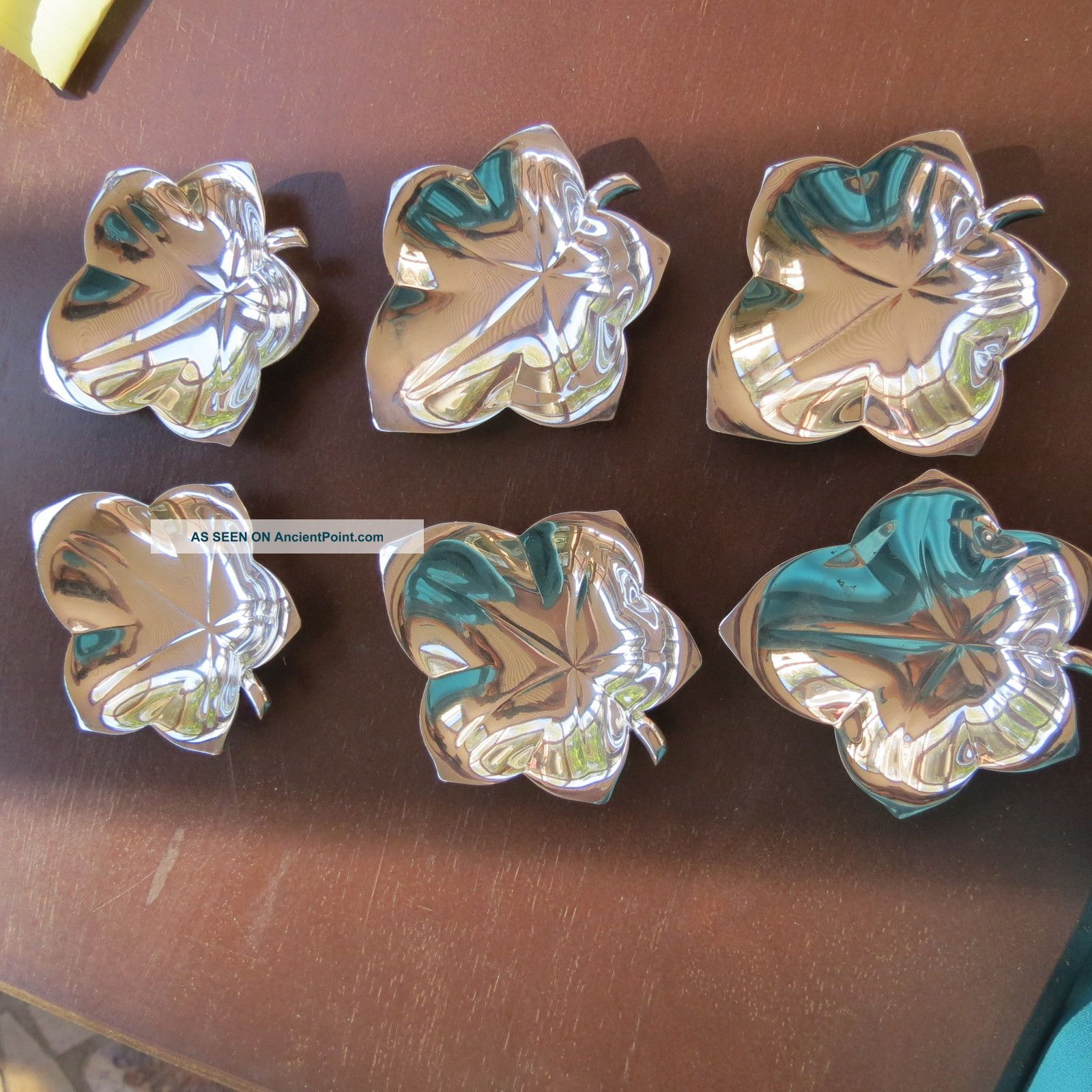 Vintage Tiffany & Co Six Sterling Silver Butter Pats Or Coasters 7.  3 T Oz Dishes & Coasters photo