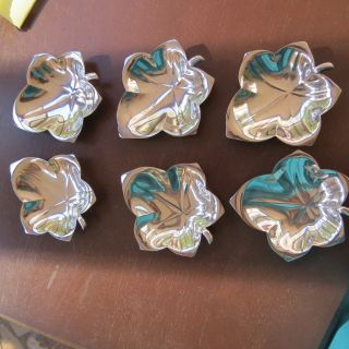 Vintage Tiffany & Co Six Sterling Silver Butter Pats Or Coasters 7.  3 T Oz photo