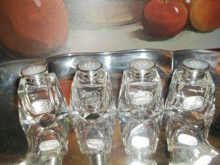 1 Pair Birks Sterling Silver W/labels Salt,  Pepper,  Crystal Czechoslovakia 2pc photo