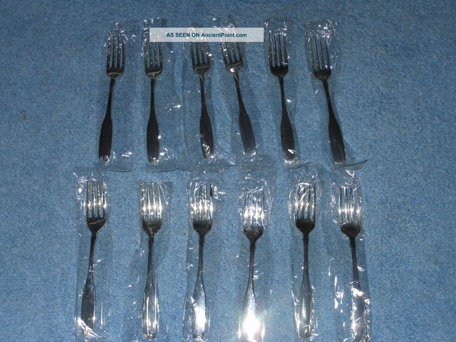 12 Pcs Oneida Ltd.  Silversmiths Bennington Silverplate Dinner Fork New Oneida/Wm. A. Rogers photo