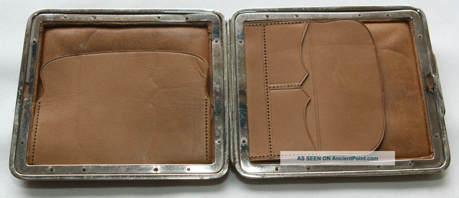 Edwardian Card Case - Grain Leather Exterior With Lid Leather Interior - Twin Pocket Card Cases photo
