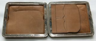 Edwardian Card Case - Grain Leather Exterior With Lid Leather Interior - Twin Pocket photo