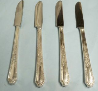 4 Ancestral Grill Knives - Classic 1924 Rogers - Fine - Clean & Table Ready photo