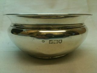 Antique Solid Silver Small Bowl London Ref 124 photo