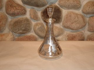 Fine Silver Overlay Decanter 10 In. photo