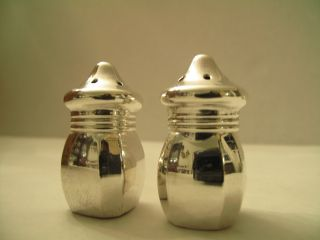 Sterling Silver - Salt And Pepper Shakers - Pairs - Vintage photo