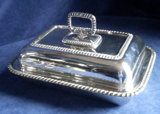 Good Silver Plated Serving Dish 28cm Wide C1900 photo