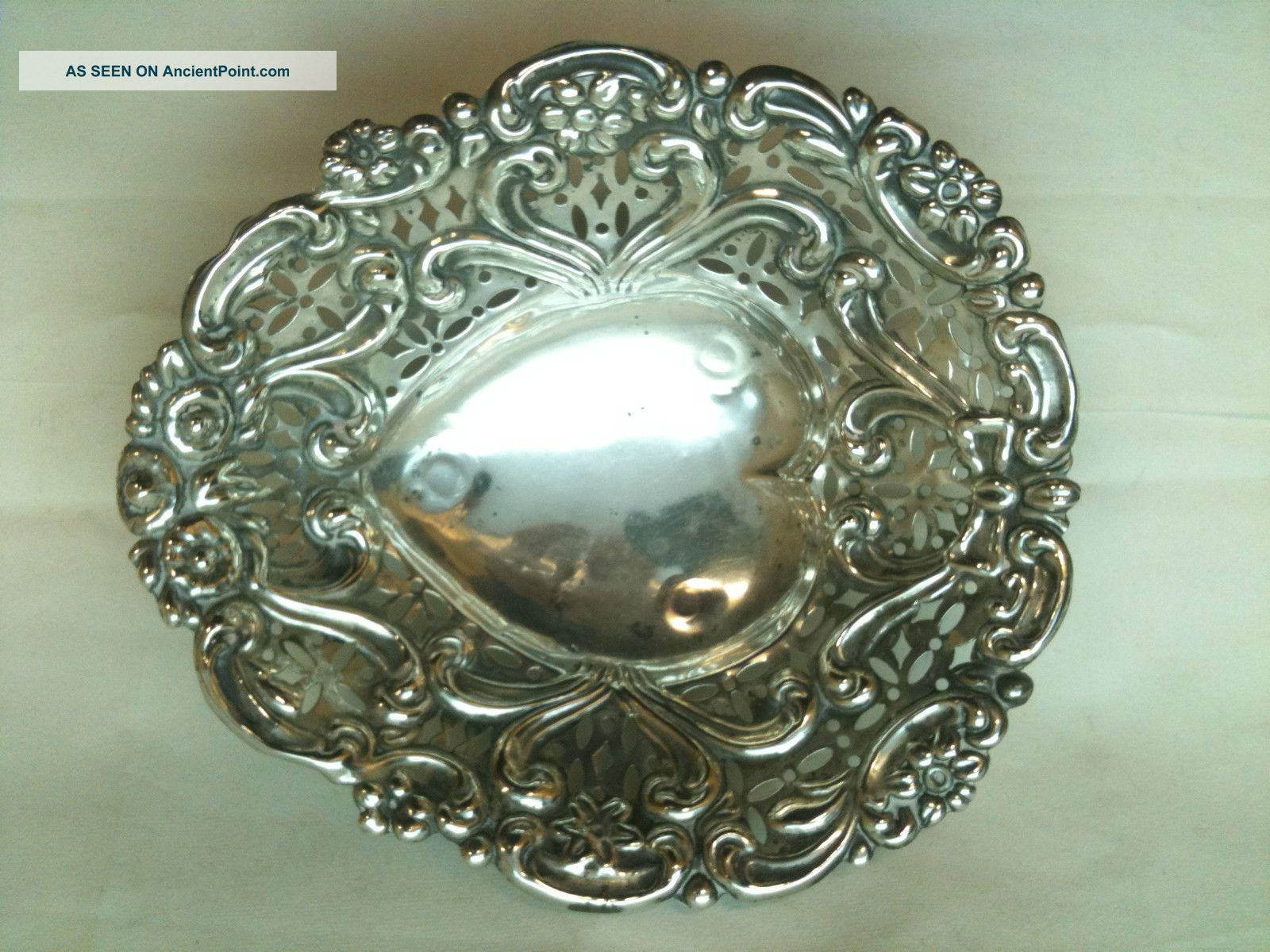 Antique Solid Silver Victorian Sweetmeat Dish Chester Ref 207/4 Dishes & Coasters photo