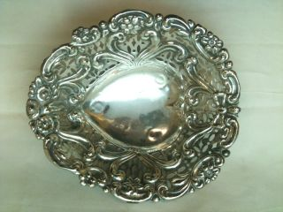 Antique Solid Silver Victorian Sweetmeat Dish Chester Ref 207/4 photo