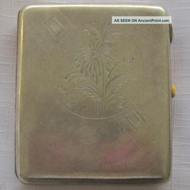 Russian Soviet Silver (875) Cigarette Case In Perfect Condition Russia photo