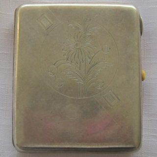 Russian Soviet Silver (875) Cigarette Case In Perfect Condition photo