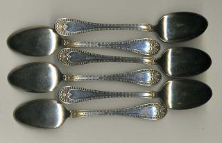 Six Demitasse Spoons 1835 R.  Wallace - Silverplate Bead Pattern - Excellent photo