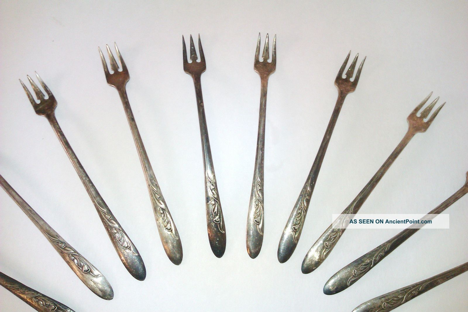 1957 Cherie By Carlton Silver Plated Cocktail Forks - Vintage Collectible Other photo
