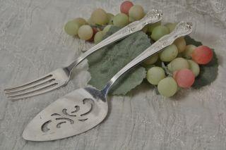 International Silver Wm Rogers Mfg Co Magnolia Inspiration Dinner Fork 1951 photo