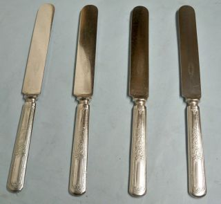 4 Ancestral Solid Hanlde/blunt Dinner Knives - Classic 1924 Rogers - Table Ready photo