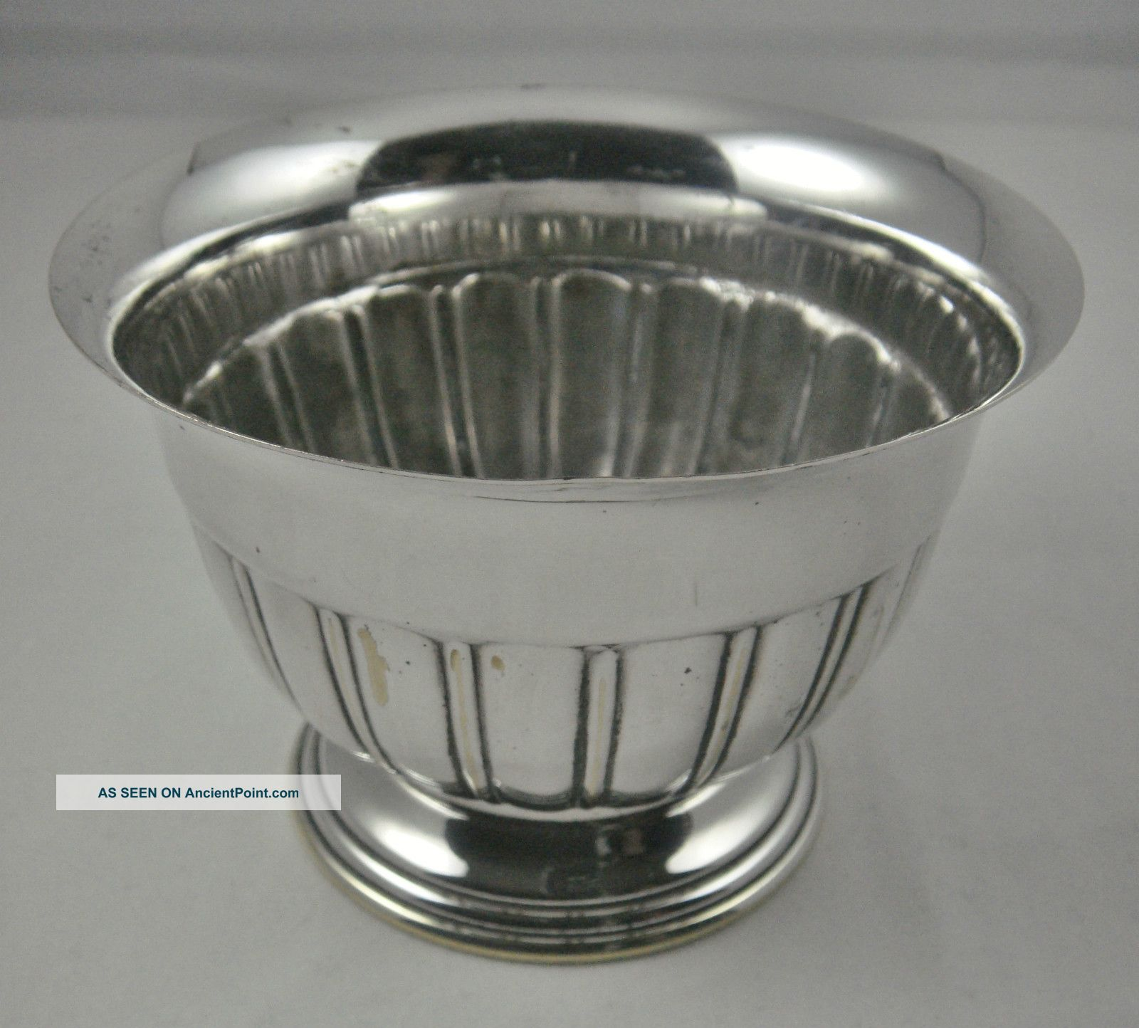 Vintage Ornate Semi Fluted English Silver Plated Flower Posy Bowl Vase Vases & Urns photo