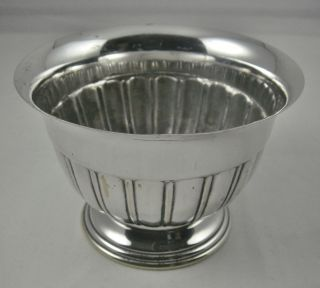 Vintage Ornate Semi Fluted English Silver Plated Flower Posy Bowl Vase photo