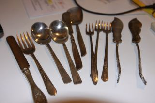 Oneida Community,  Rodgers Silverplate Flatware 11 Piece Lot photo