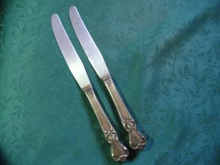 Vintage Old Company Silverplate Dinner Knives Signature 1950 Mono S photo