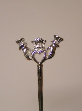 Salt Spoon (claddagh) Sterling Silver photo