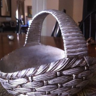 International Silver Company Basket Weave Design Silver Plated Basket photo