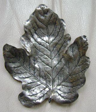 Sterling Silver R.  Blackington Leaf Dish / Mint Dish photo