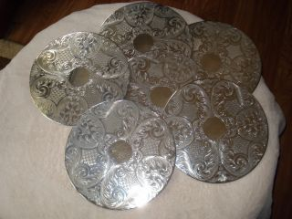 Set Of 6 Silver Plated Place Mats photo