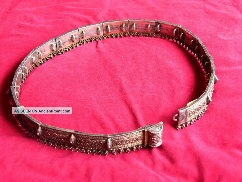 Russian Antique Niello Silver 84 Belt From Late 1800 ' S Russia photo