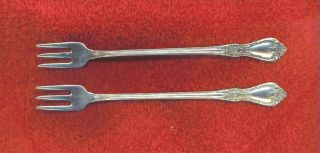 Oneida Deluxe Kennett Square Stainless 2 Shrimp Forks 6 & 1/8th Inches photo