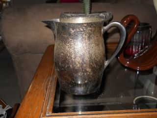 Sterling Silver Over Copper Milk Pitcher (1800 ' S) photo