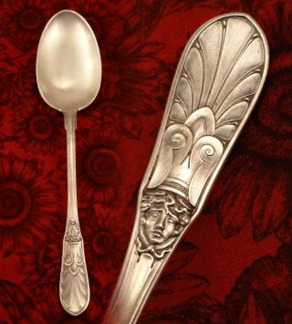 Rare Antique 1864 W.  Christesen X Large 826 Solid Silver Spoon Danish Denmark photo