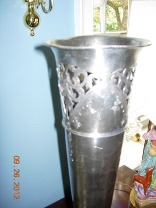 Wilcox Metal Craft Co.  Quadruple Silver Plate Mid 1800 ' S Trumpet Vase photo