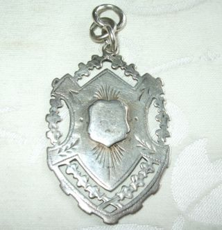 Impressive Antique Sterling Silver Pocket Watch Fob Medal 14.  7 Grams Durban 1918 photo