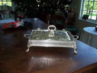 Vintage Georgian Style Silver Plated Entree Serving Dish photo