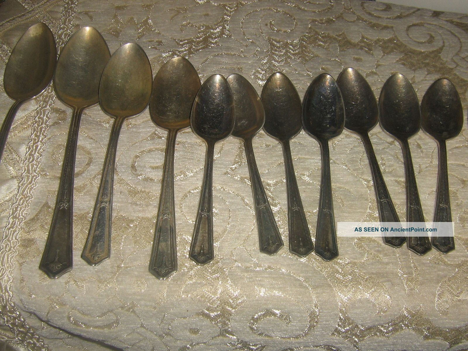 12 Piece Branford Silver Plate Flatware Spoon Other photo