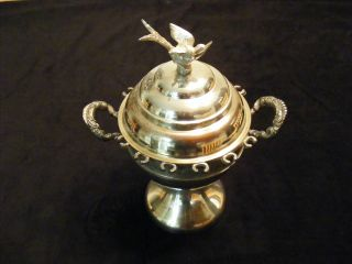 Silverplate Covered Master Sugar Bowl Silver photo