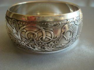 Reed & Barton Sterling Silver Artistic Napkin Ring - Rare & Heavy 35 Grams photo