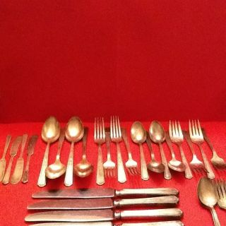 24 Pieces Oneida Community Tudor Plate Flatware Bonus 13 Pcs Addl photo