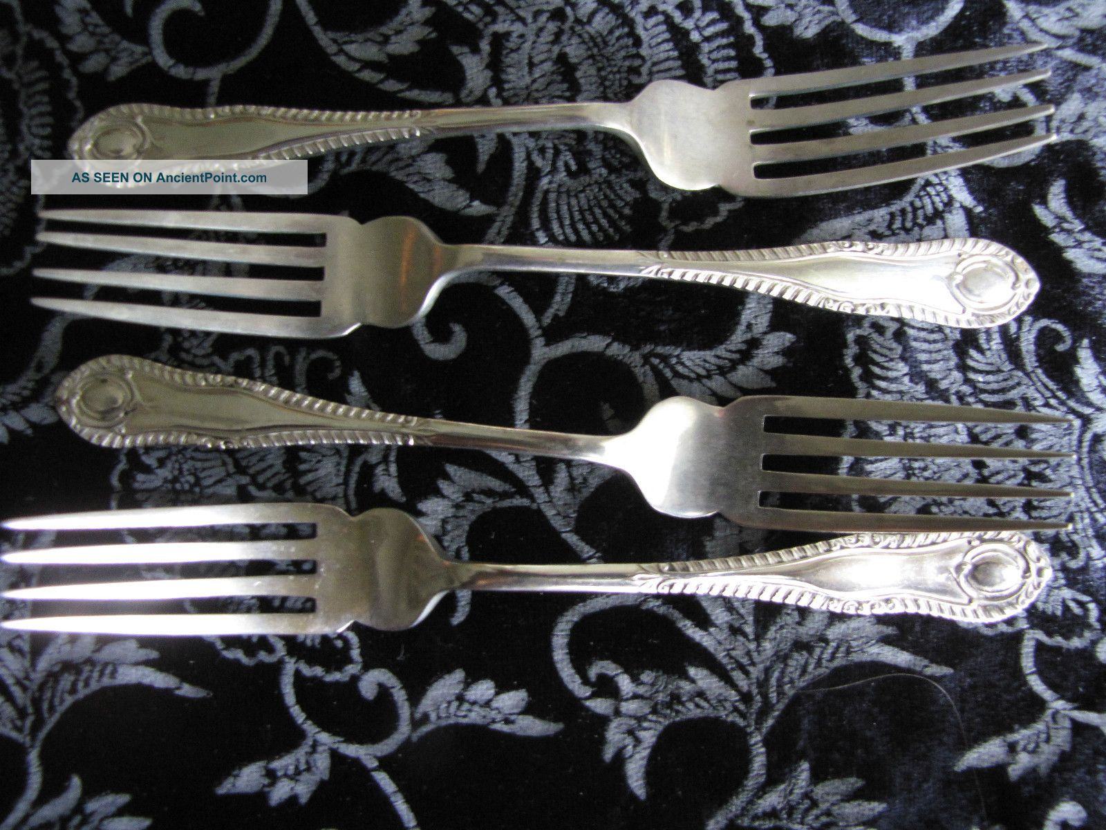 Vintage Set Scotia Silver Forks United Kingdom photo