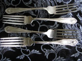 Vintage Set Scotia Silver Forks photo