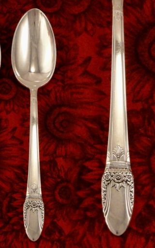 1847 Rogers First Love Tablespoon Serving Spoon 1937 Art Deco Vintage Silverware photo