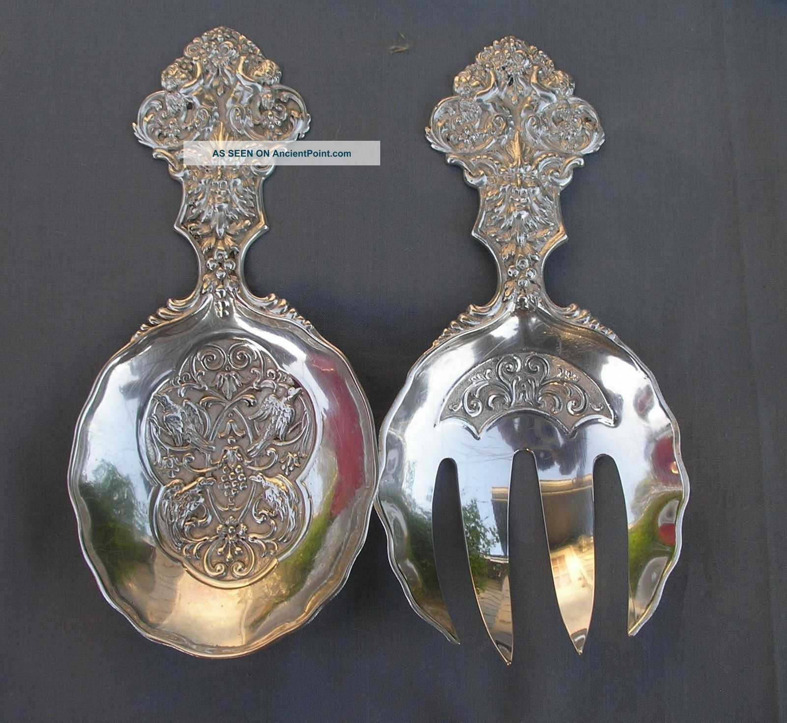 Rare J.  D.  Schleissner & Sohne 800 Silver Pickled Herring Serving Set C1816 Hanau Germany photo