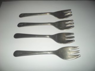 Silver Plated - 4 - Cocktail Forks Sheffield England photo