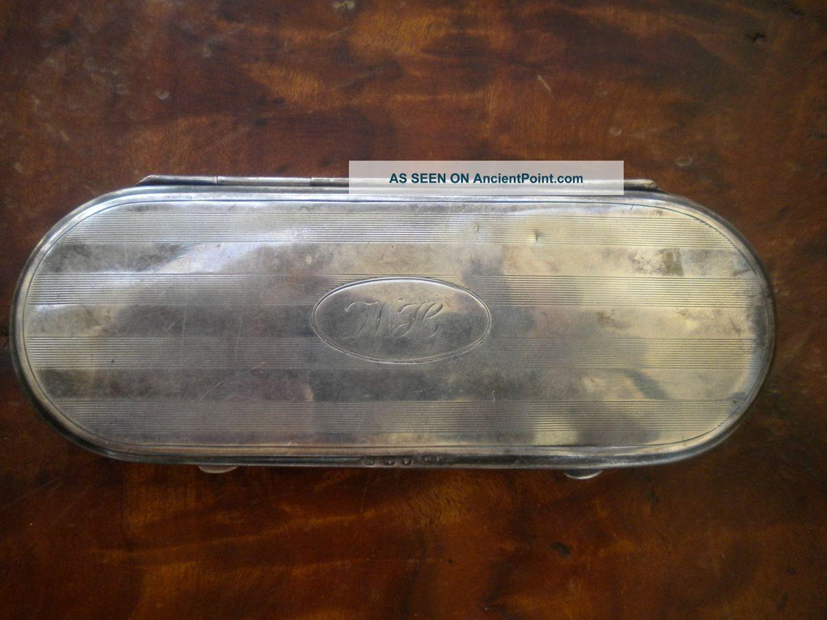 Antique Solid Silver Glasses Case United Kingdom photo